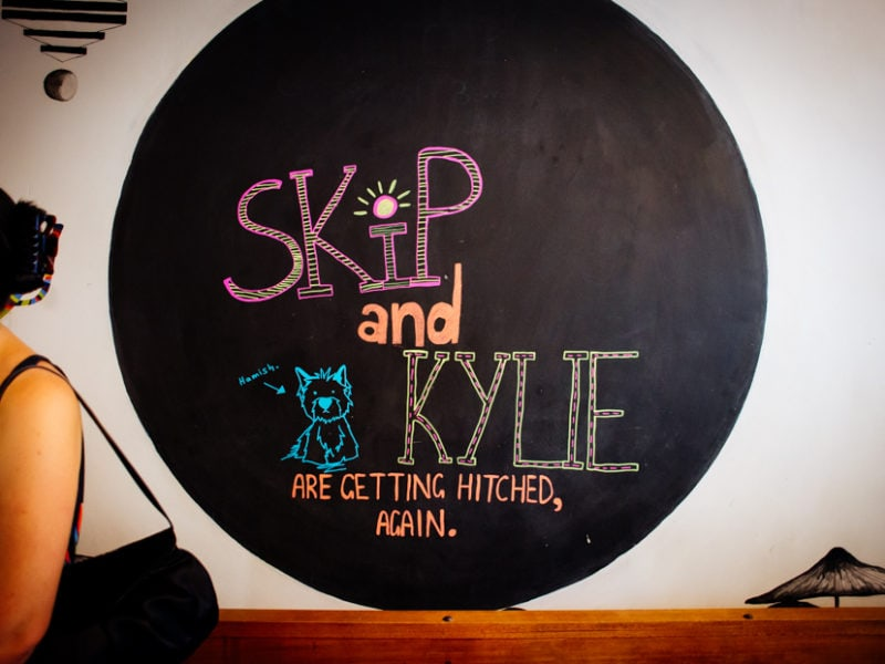 Skip and Kylie are getting married sign